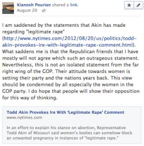 Facebook Post 8/20/2012