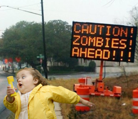 girl-running-from-zombie-sign